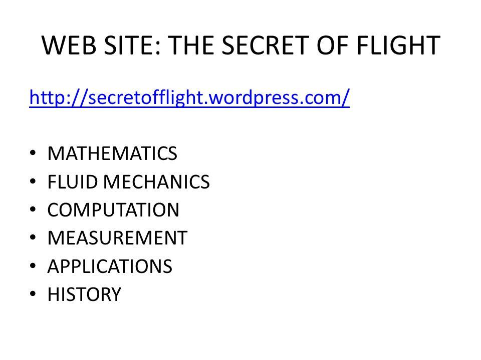 WEB SITE: THE SECRET OF FLIGHT