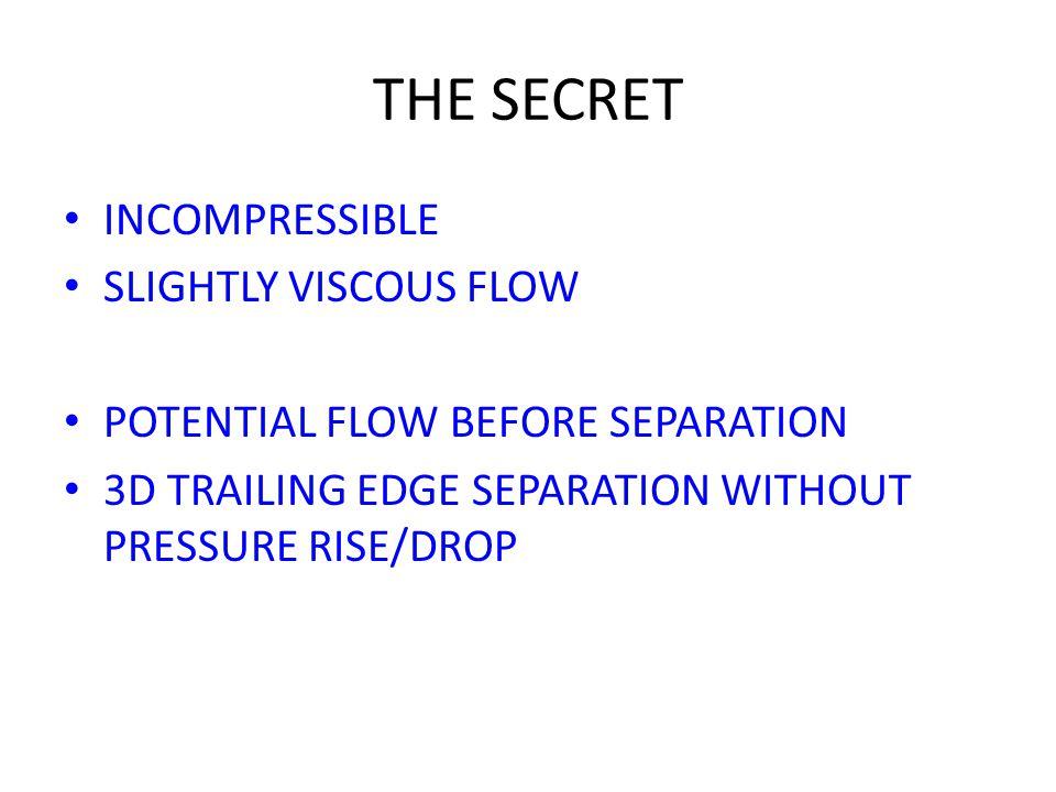 THE SECRET INCOMPRESSIBLE SLIGHTLY VISCOUS FLOW