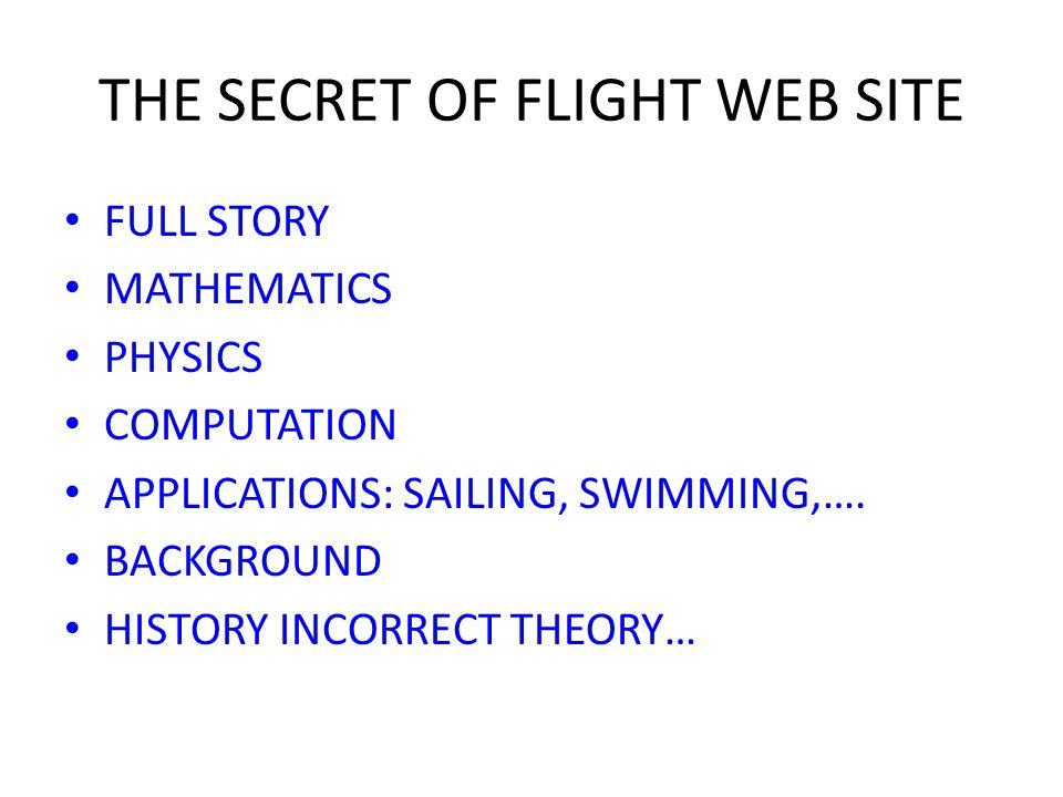 THE SECRET OF FLIGHT WEB SITE