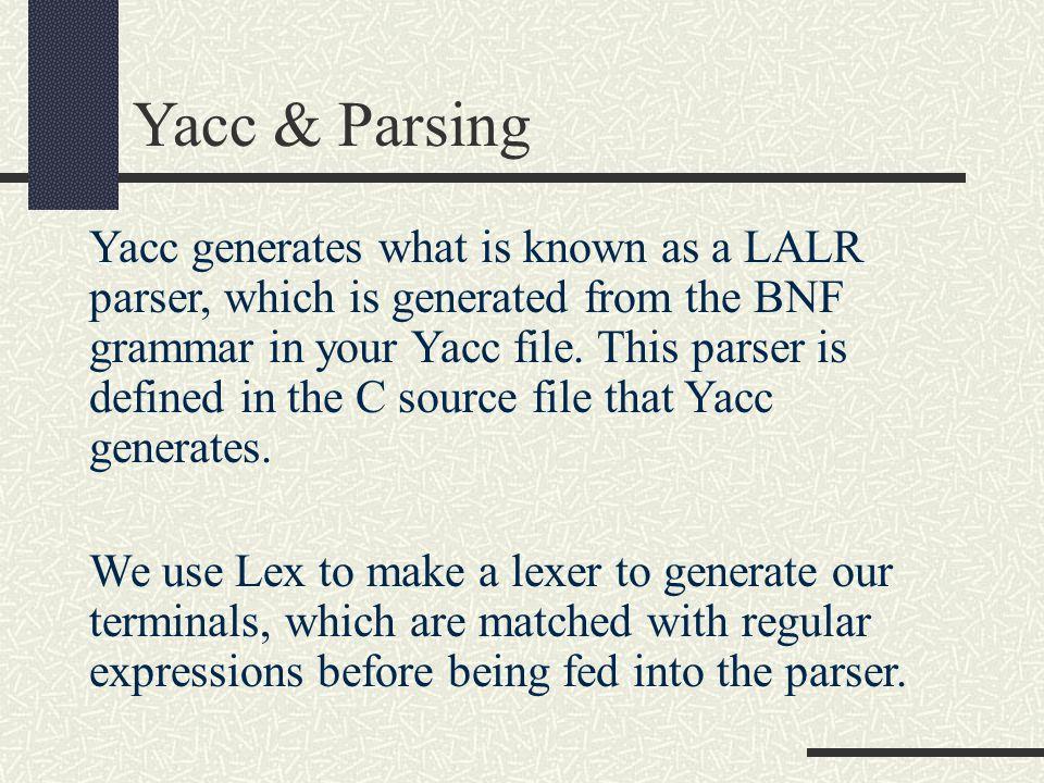 Yacc & Parsing