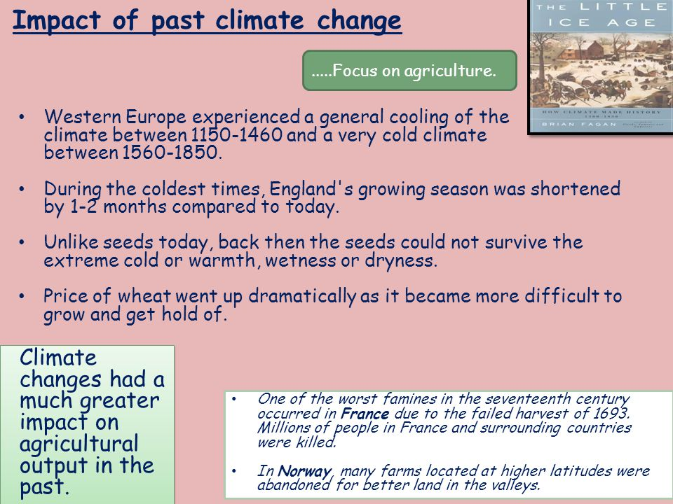 Impact of past climate change
