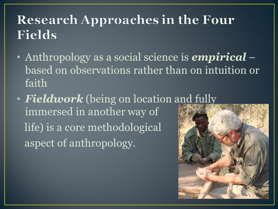Research Approaches in the Four Fields