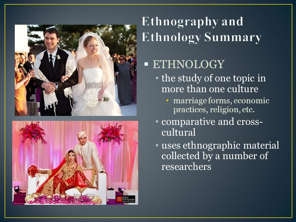 Ethnography and Ethnology Summary