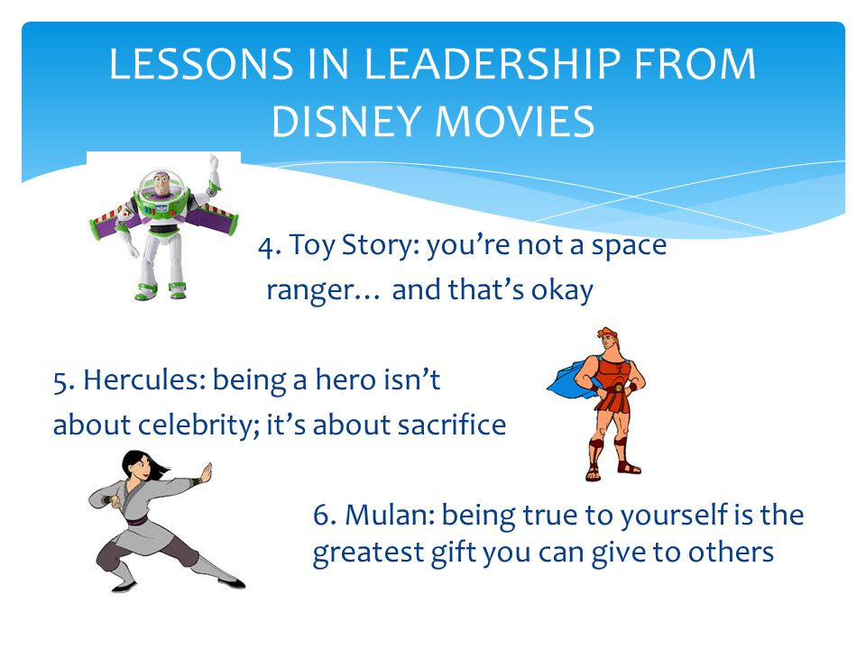 LESSONS IN LEADERSHIP FROM DISNEY MOVIES