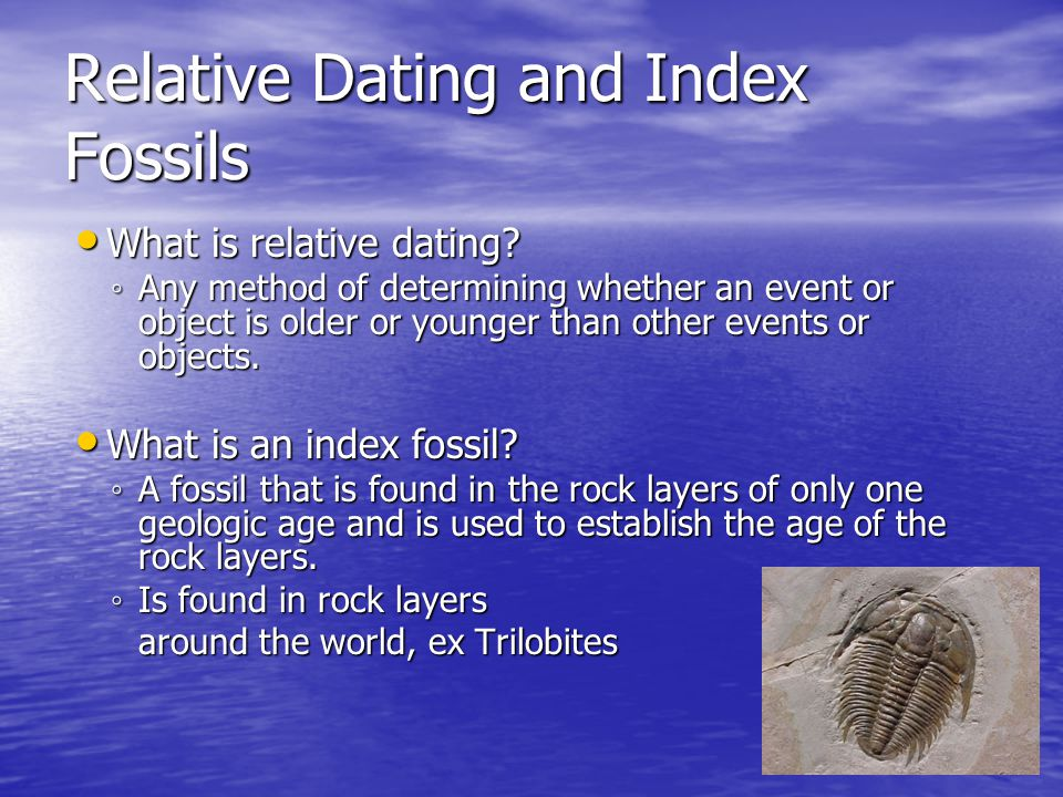 Relative dating lesson