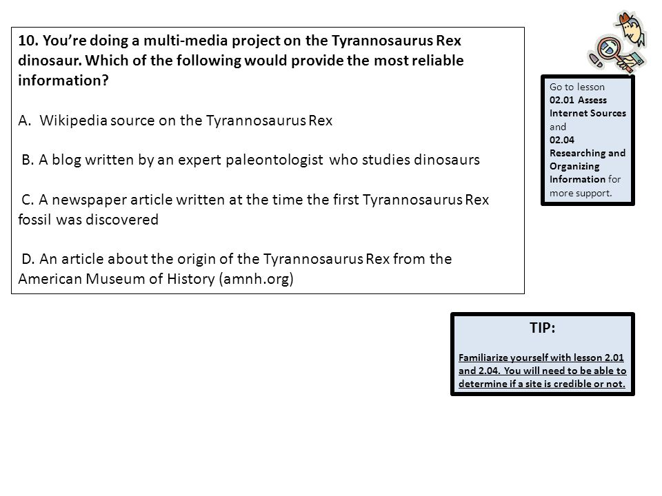 A. Wikipedia source on the Tyrannosaurus Rex