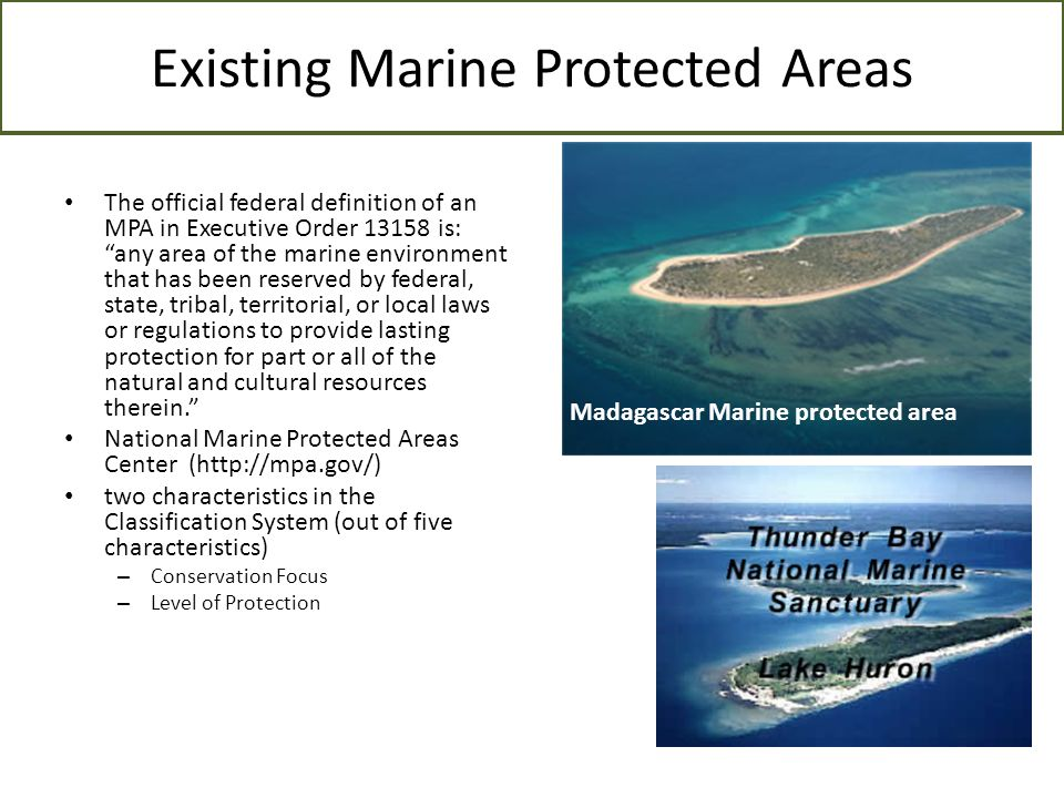 Existing Marine Protected Areas