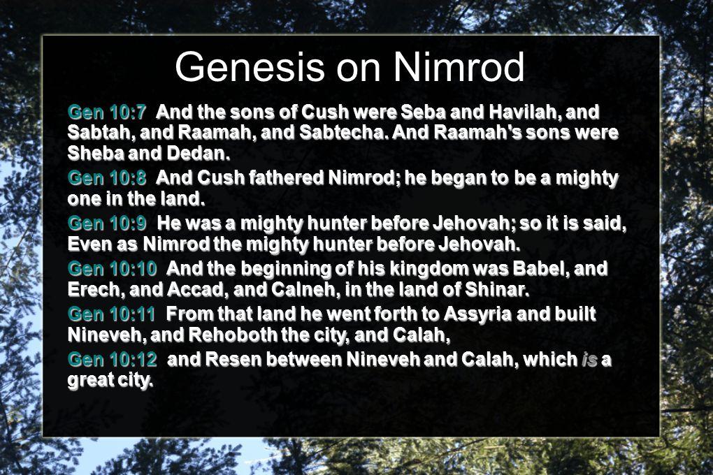 Genesis on Nimrod