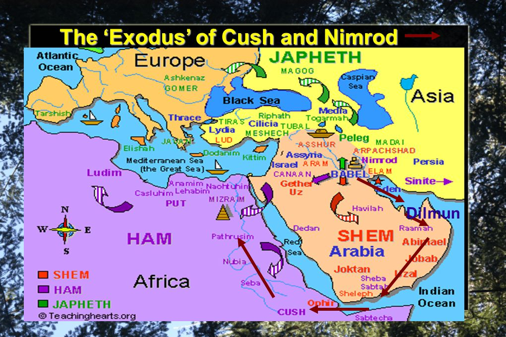 The 'Exodus' of Cush and Nimrod