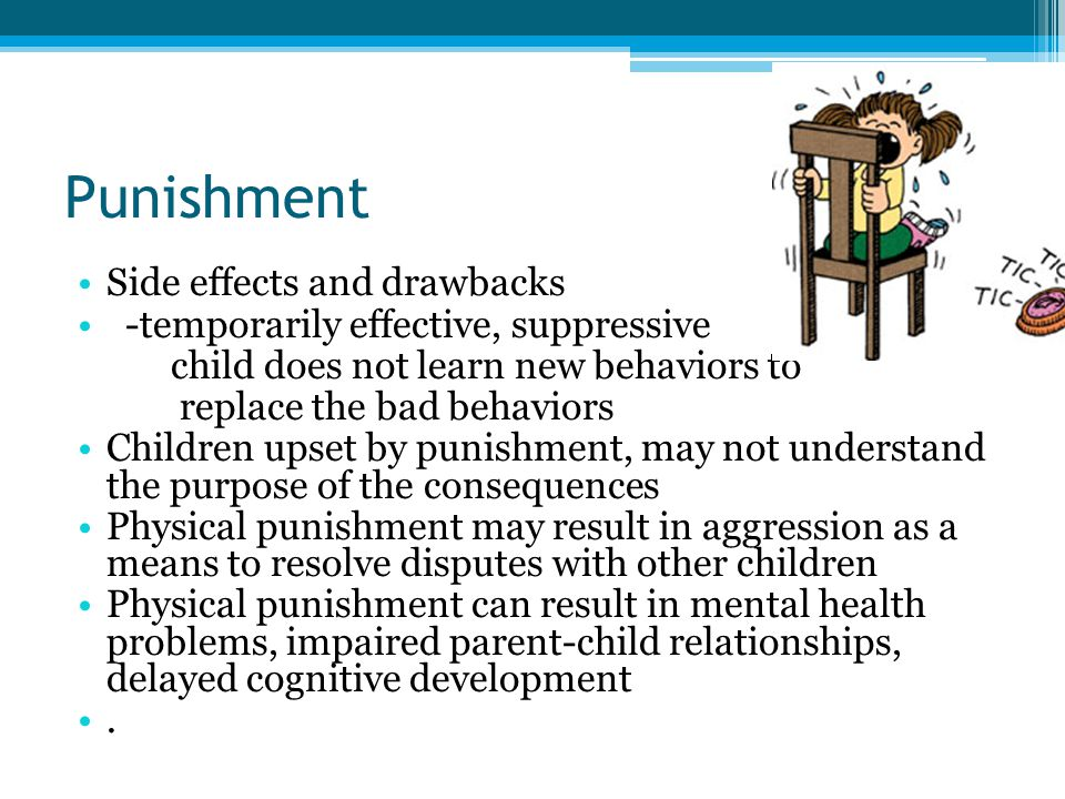 Punishment Side effects and drawbacks