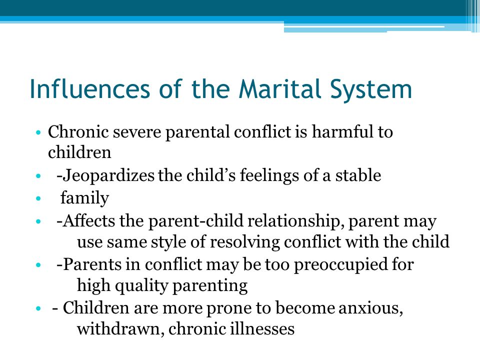 Influences of the Marital System