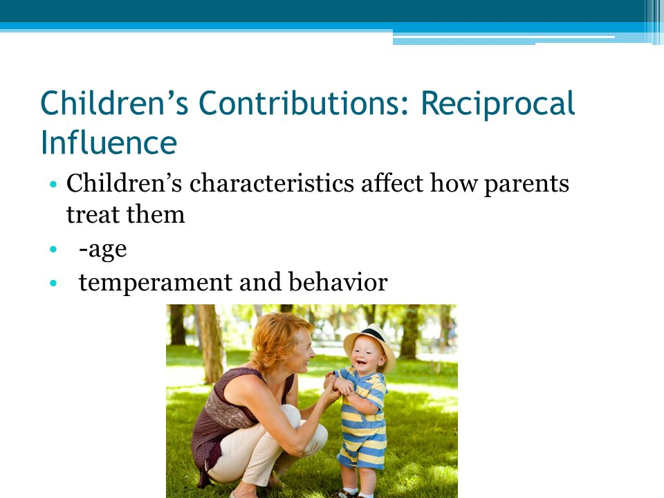 Children's Contributions: Reciprocal Influence