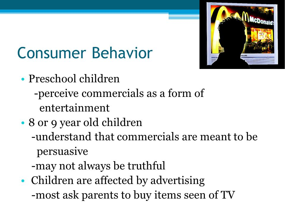Consumer Behavior Preschool children