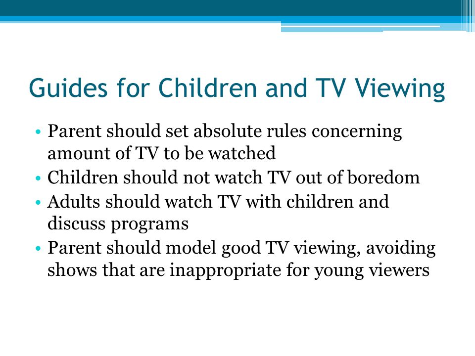 Guides for Children and TV Viewing
