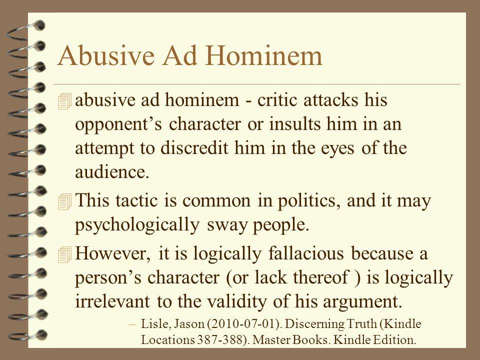 Abusive Ad Hominem
