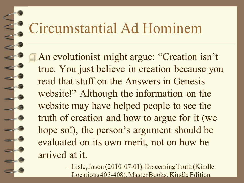 Circumstantial Ad Hominem