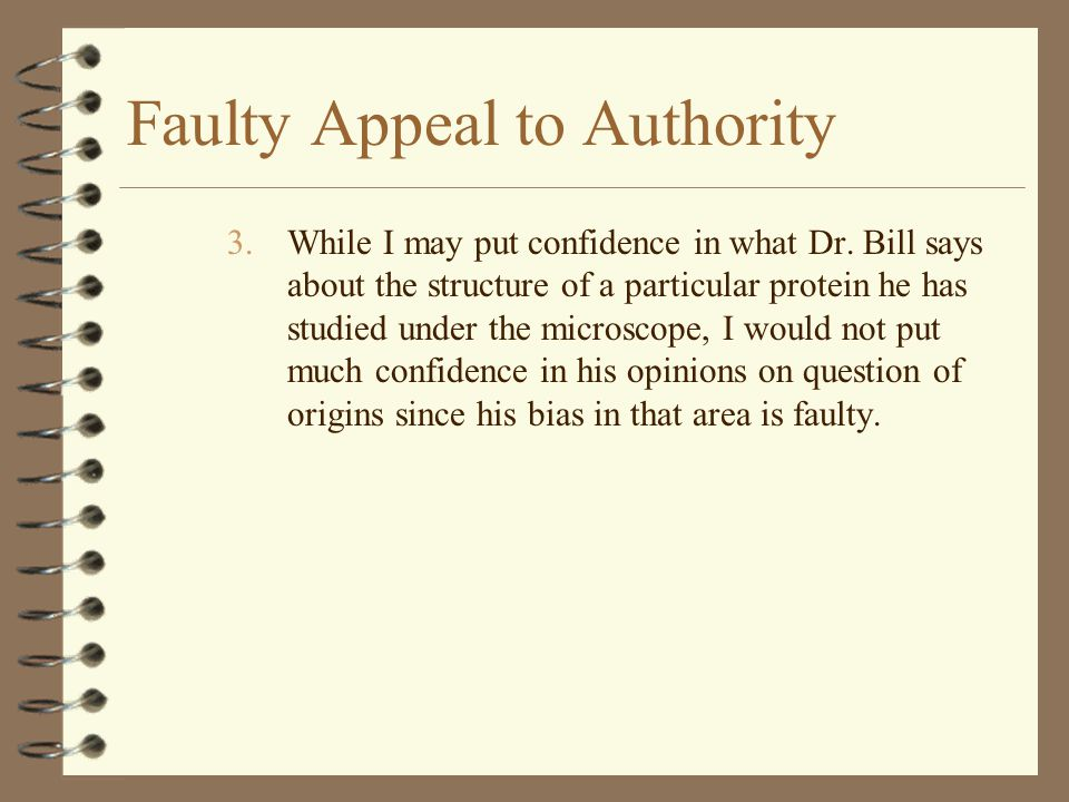 Faulty Appeal to Authority