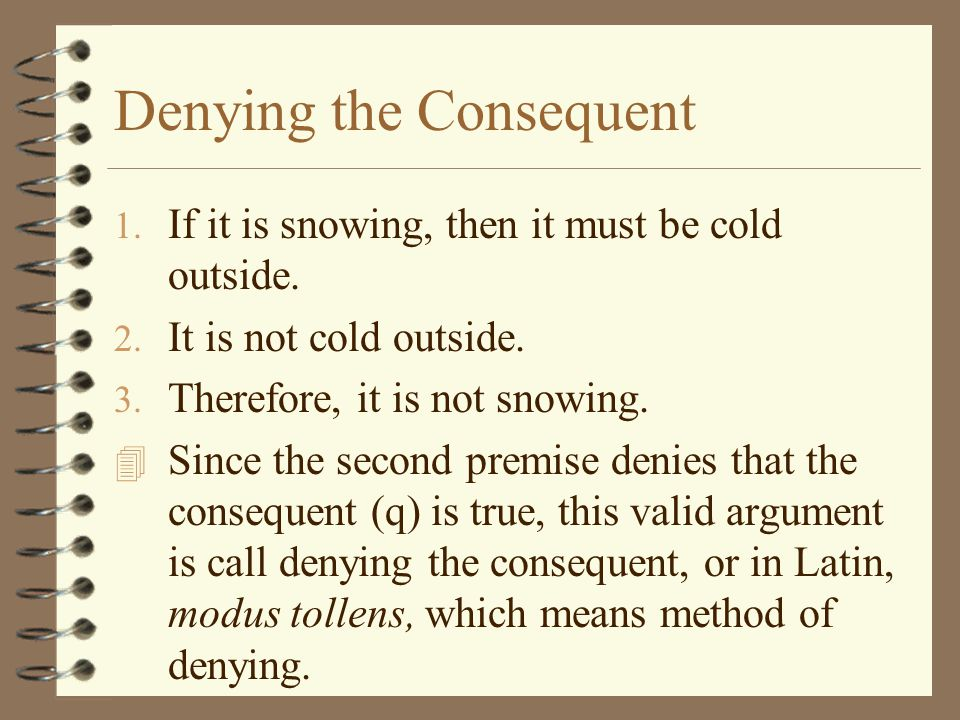 Denying the Consequent