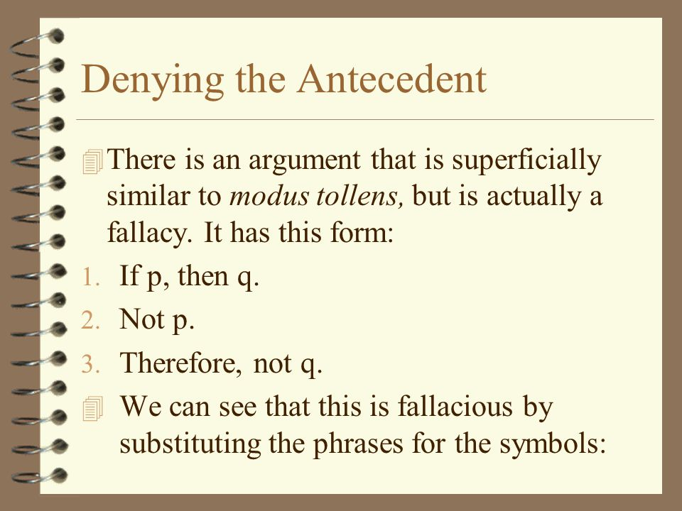 Denying the Antecedent