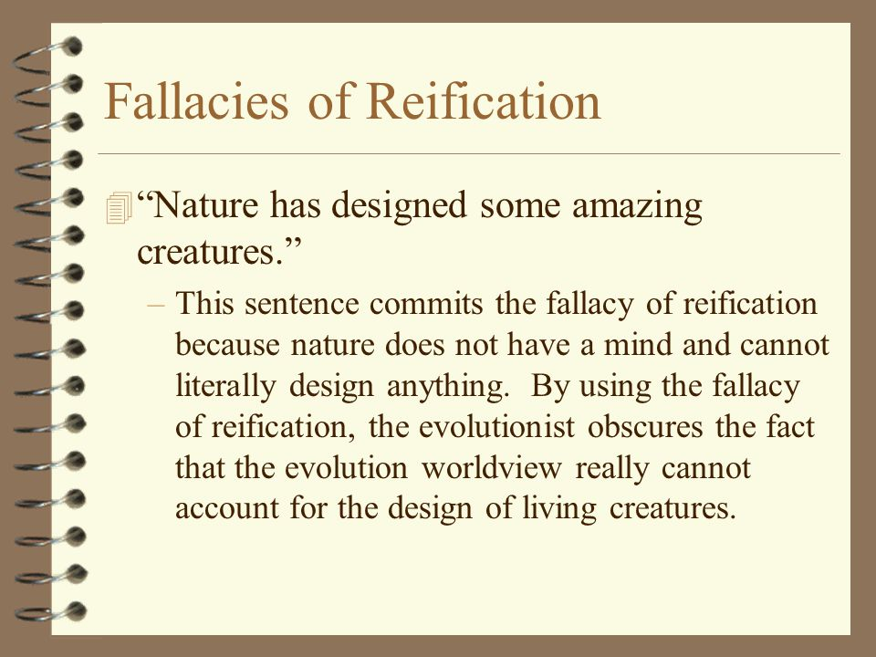 Fallacies of Reification