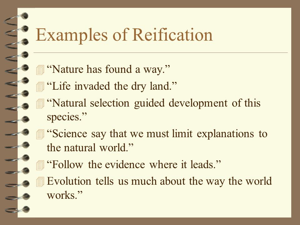 Examples of Reification