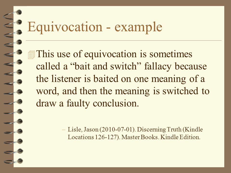 Equivocation - example
