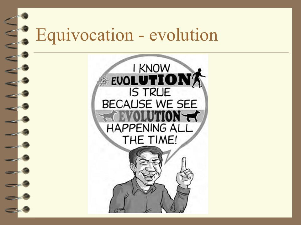 Equivocation - evolution