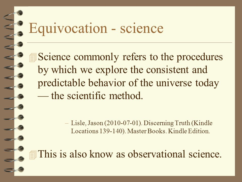Equivocation - science