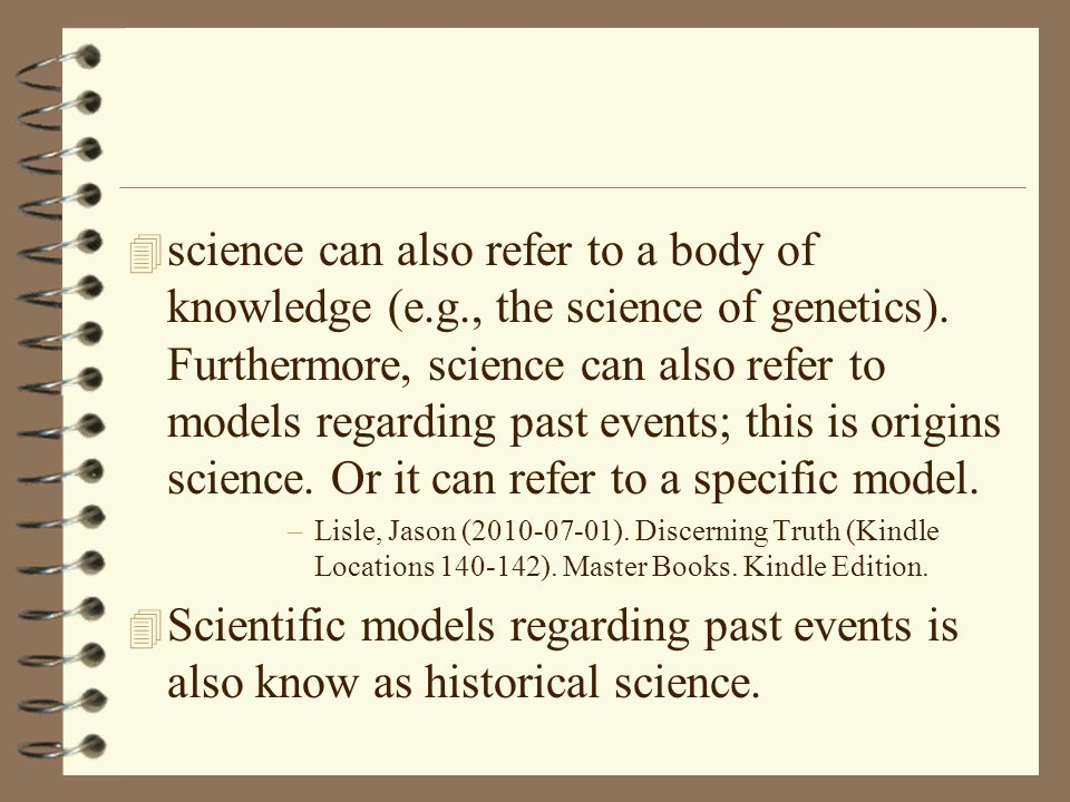 science can also refer to a body of knowledge (e. g