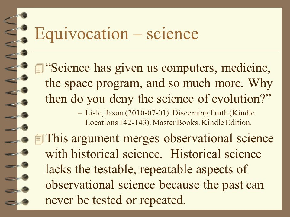 Equivocation – science