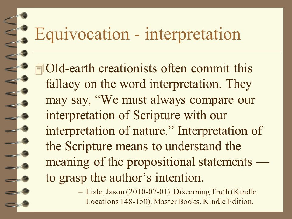 Equivocation - interpretation