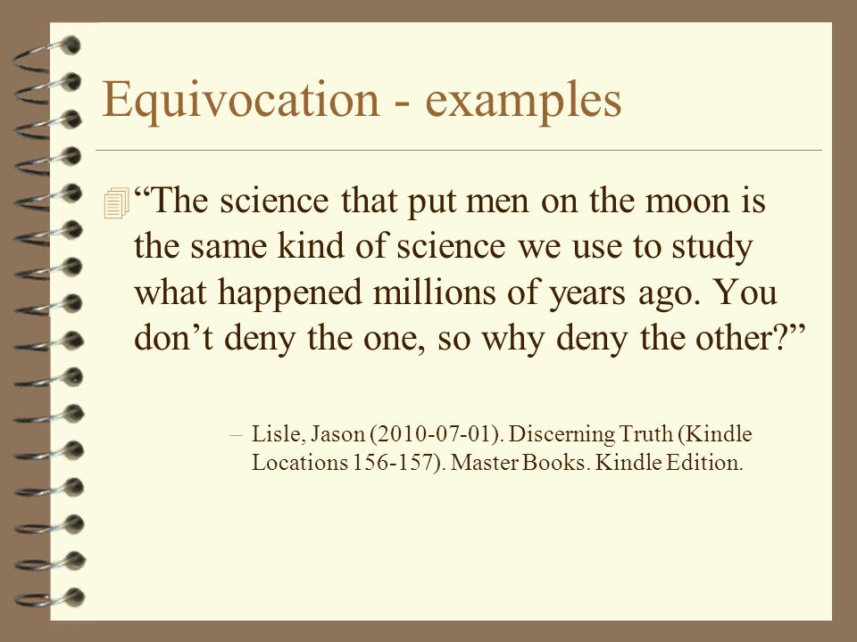 Equivocation - examples