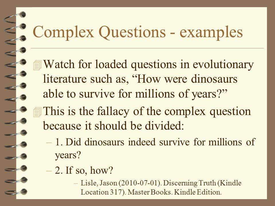 Complex Questions - examples