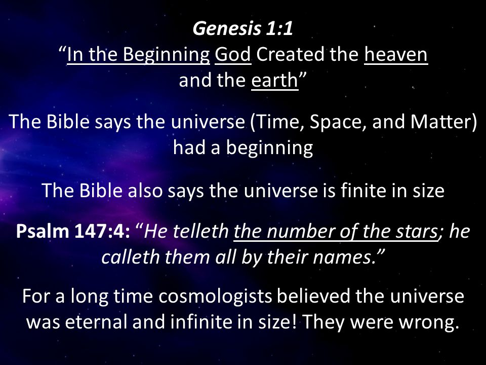 "gods creation of heaven and earth according to the bible The religious interpretation, according to the bible, says genesis was written by  moses as  ""in the beginning god created heaven and earth."