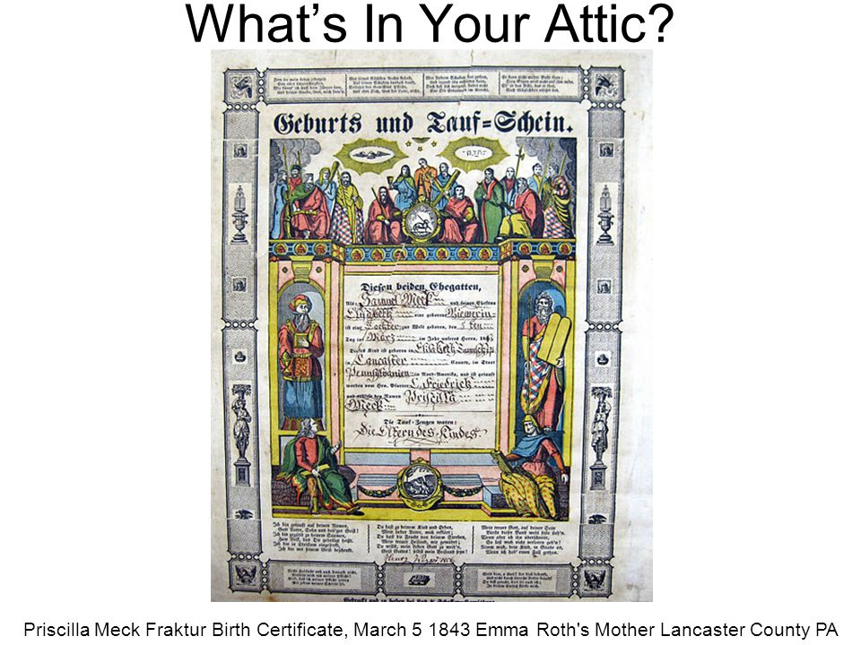 What's In Your Attic Jim Reger - 2