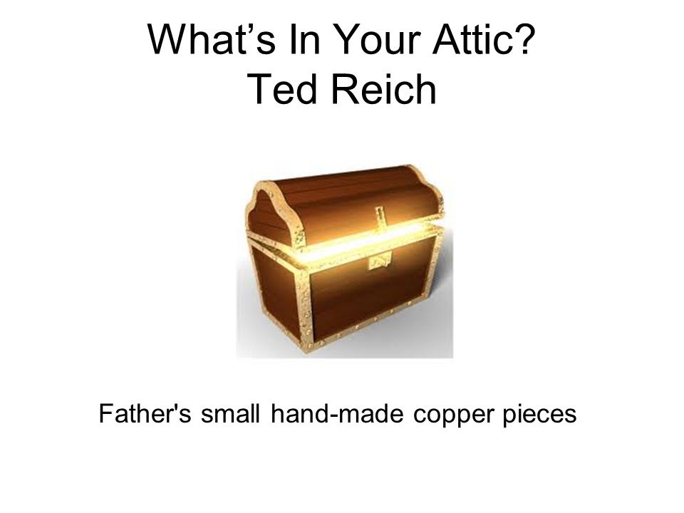 What's In Your Attic Ted Reich