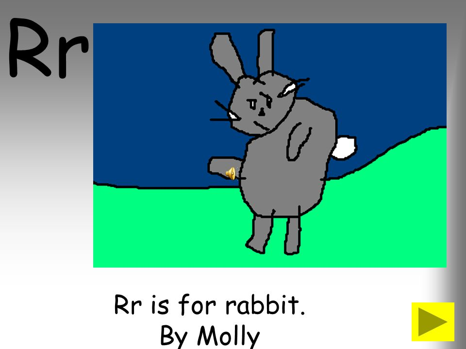 Rr is for rabbit. By Molly