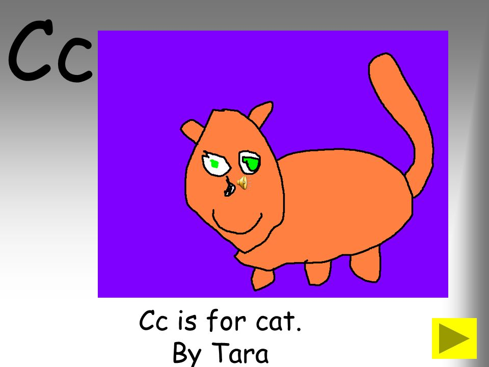 Cc Cc is for cat. By Tara