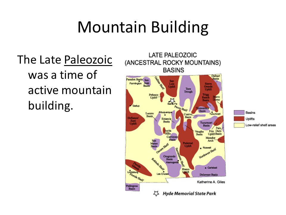 Mountain Building The Late Paleozoic was a time of active mountain building.