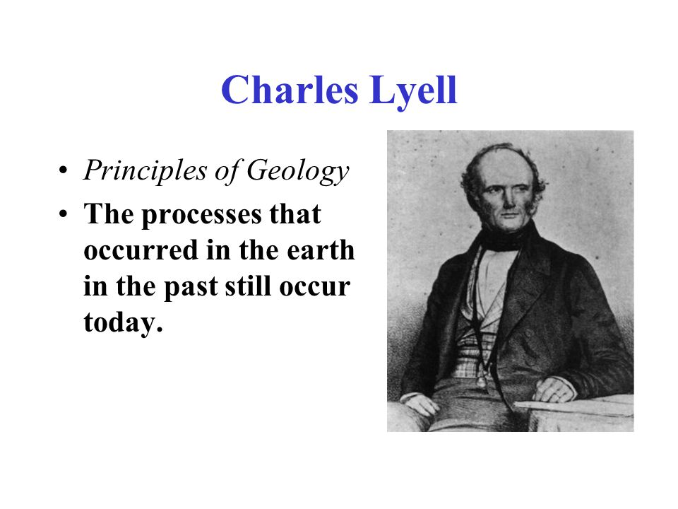 Charles Lyell Principles of Geology