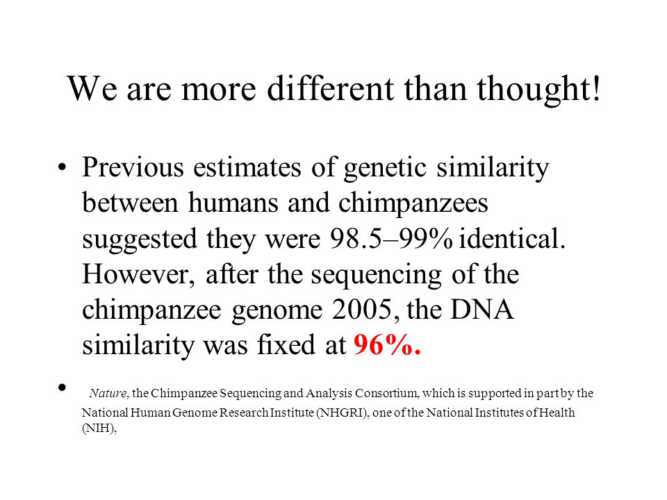 We are more different than thought!