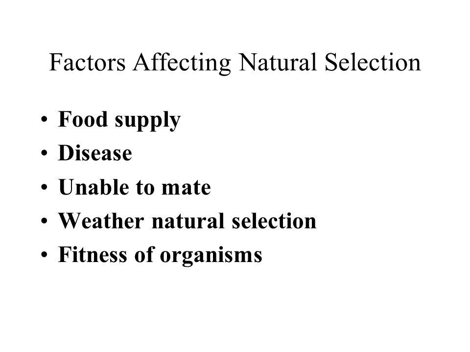 Factors Affecting Natural Selection