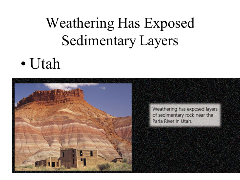 Weathering Has Exposed Sedimentary Layers