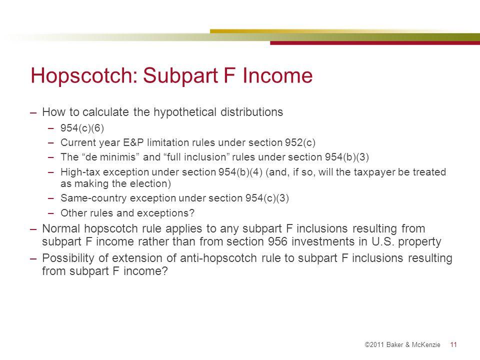 Hopscotch: Subpart F Income