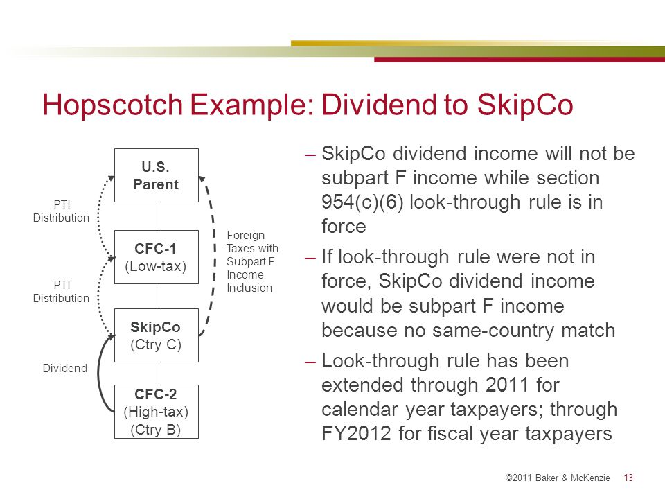 Hopscotch Example: Dividend to SkipCo
