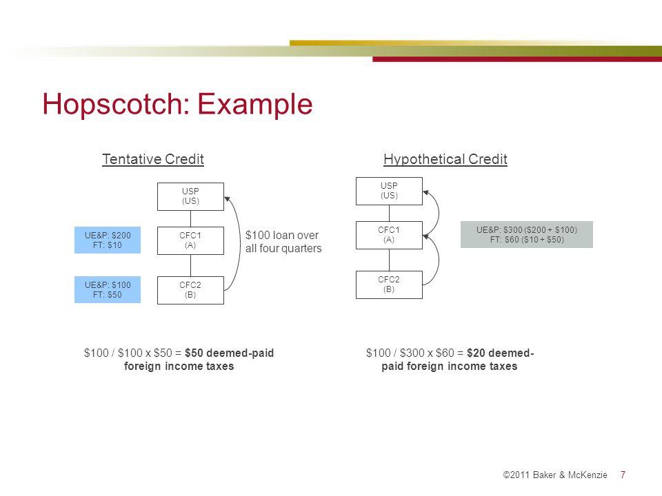 Hopscotch: Example Tentative Credit Hypothetical Credit