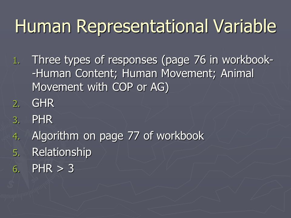 Human Representational Variable