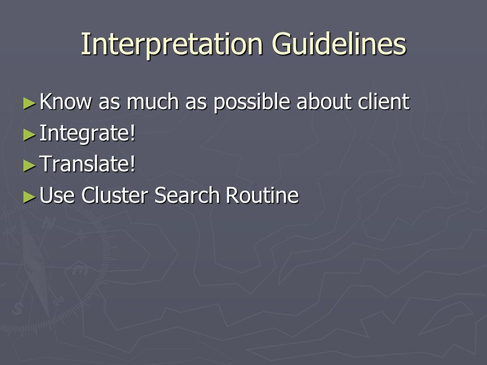 Interpretation Guidelines