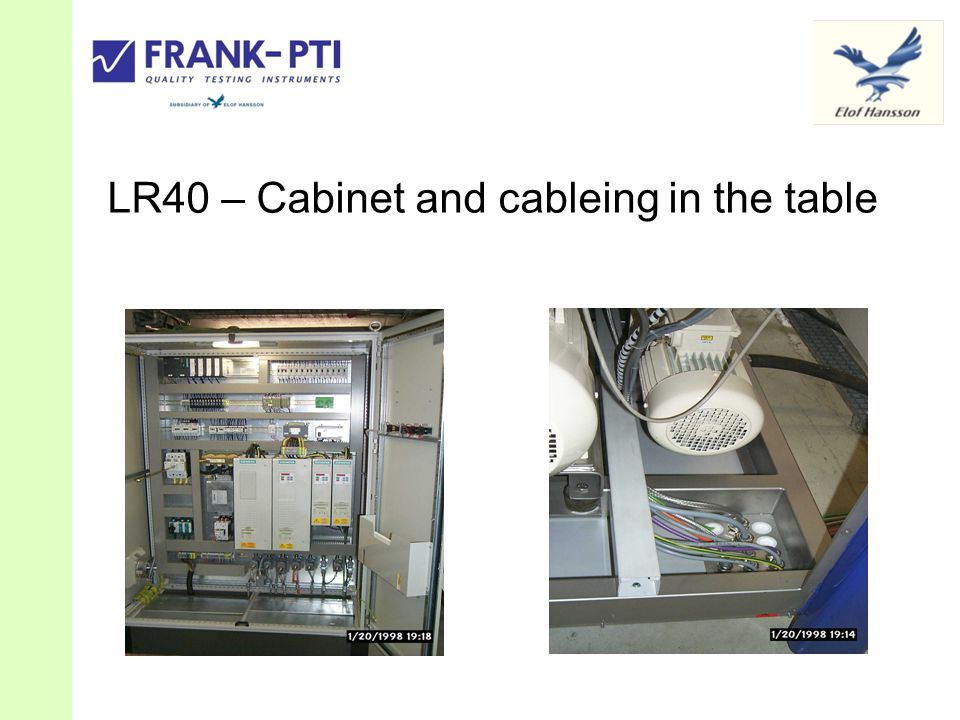LR40 – Cabinet and cableing in the table