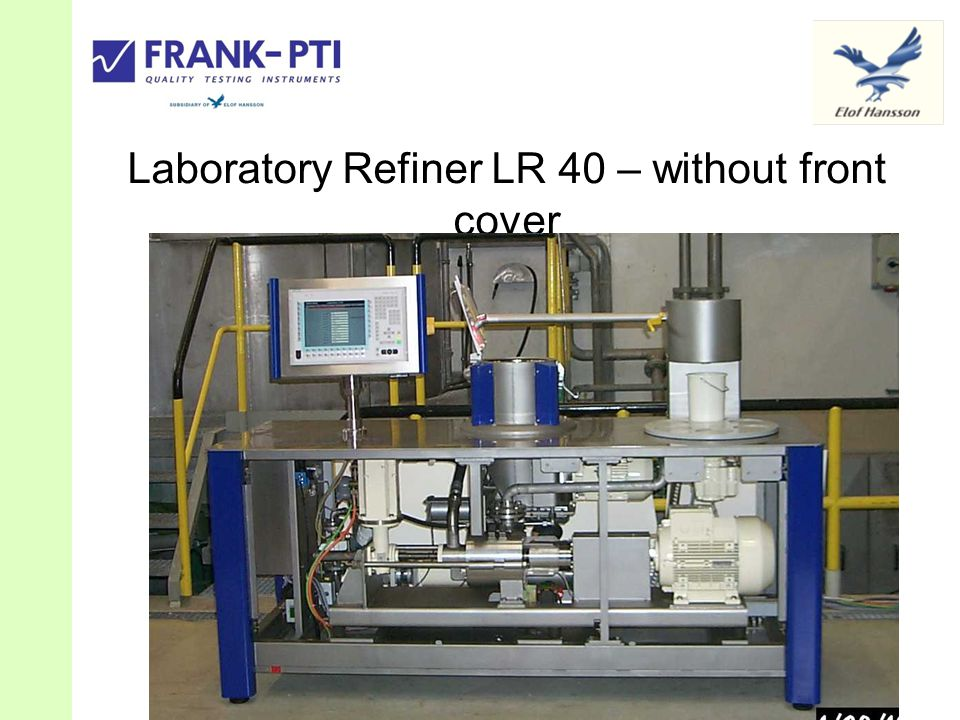 Laboratory Refiner LR 40 – without front cover